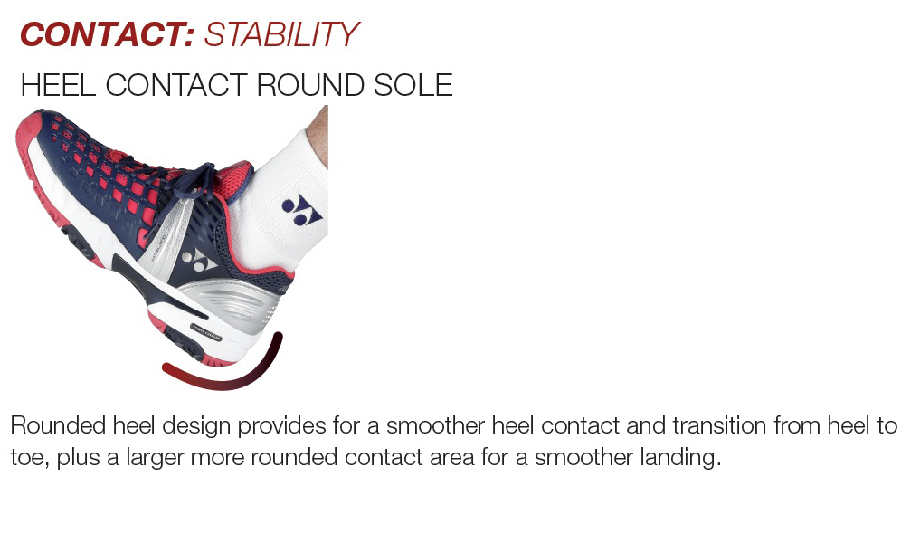 Heel contact round sole Yonex